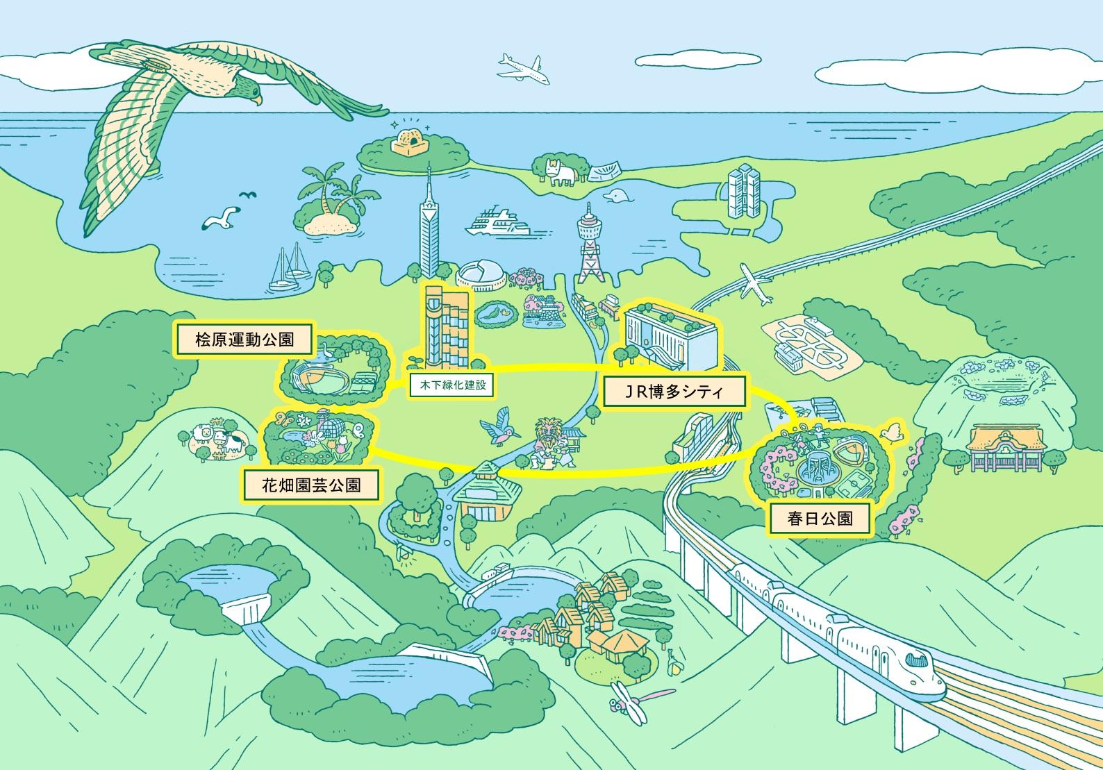 福岡都市圏マップ